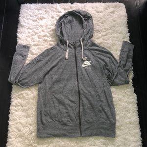 Womens heather gray nike jacket